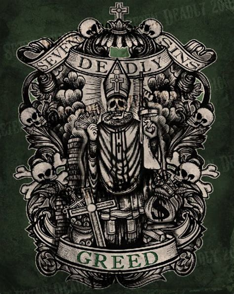 greed tattoo se7en deadly deadly greed print 11x14 outgoing