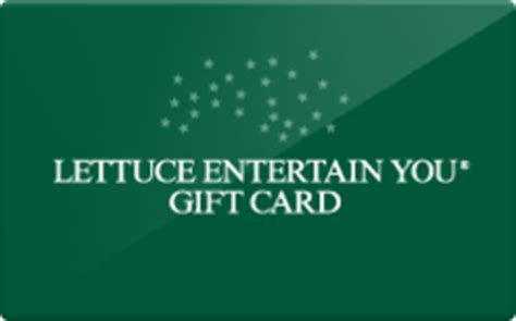 lettuce entertain you gift card discount 20 00 off - Lettuce Entertainment Gift Card