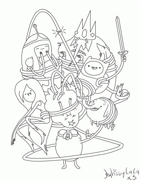 adventure time coloring pages online az coloring pages