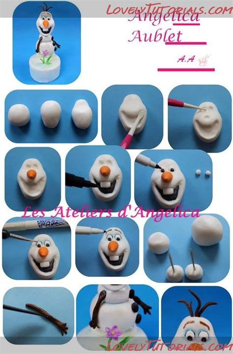 Easy And Olaf Tutorial мк лепка олаф холодное сердце мультфильм Olaf Frozen Character Cake Topper Tutorial