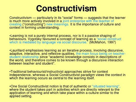 In Search Of Understanding The For Constructivist Classrooms 60 Best Images About Social Learning And Constructivism On News Articles
