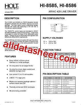 holt integrated circuits wiki hi 8585 fiche technique pdf holt integrated circuits