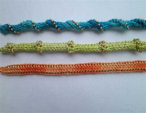 knitted i cord beaded i cord bracelets by ravenswoodknit craftsy