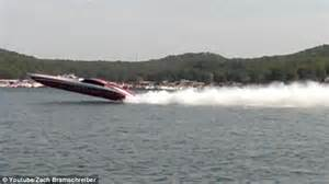 boating accident quebec speedboat flips during high speed race but everyone