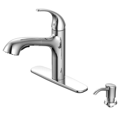 shop aquasource chrome pull out kitchen faucet at lowes com