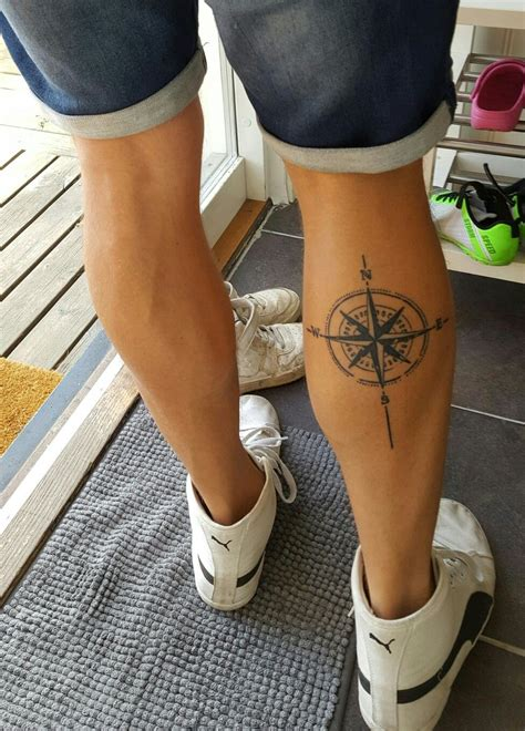 rose tattoos on calf compass calf tattoos calf tattoos