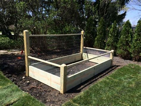1 Foot Trellis One 4x8 Ft Pine Raised Bed With 4 Foot Trellis And Fencing