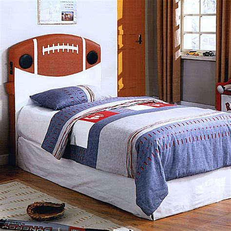 football headboard football twin headboard with built in speakers buybuy baby