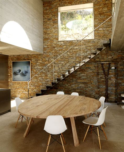 stone compound wall designs dining room contemporary with modernist brutalism of the row concrete at maison le cap