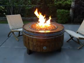 Diy Gas Firepit Wine Barrel Pits Sonoma County Pits Shop