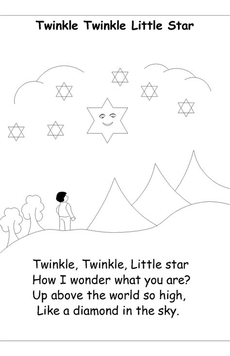 coloring page twinkle twinkle little star nursery rhyme coloring pages twinkle twinkle little star
