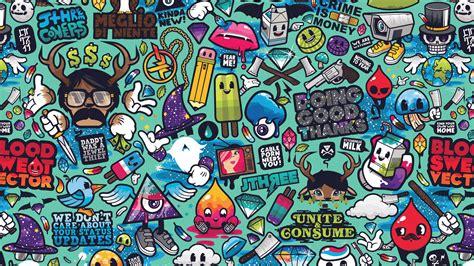aq art work pattern illustration graffiti wallpaper