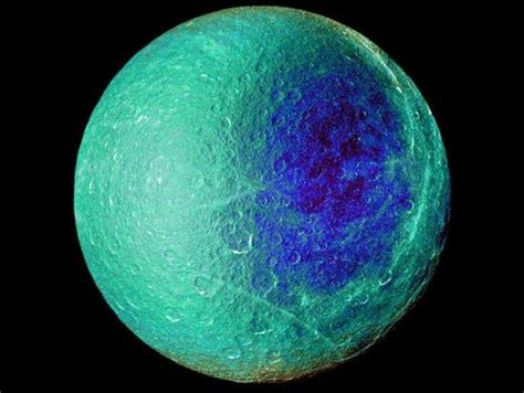 saturns largest moons icy cratered rhea photos of saturn s second largest moon