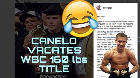 Canelo Meme - canelo vacates gennady quot ggg quot golovkin s belt here s what