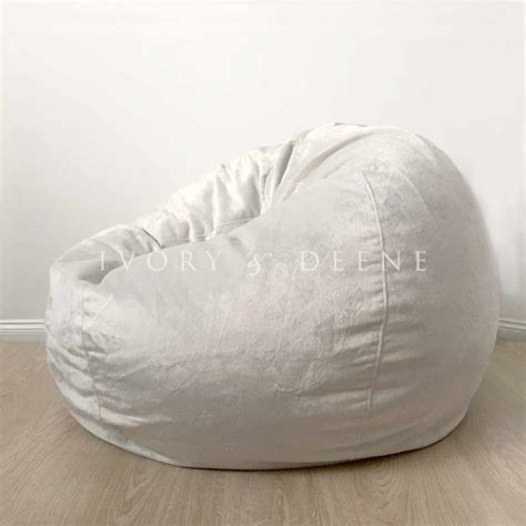silver bean bag cover large silver velvet micro fur bean bag cover buy