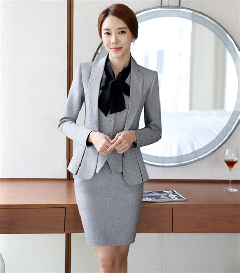 styles of work suites novelty grey formal ol styles professional business women