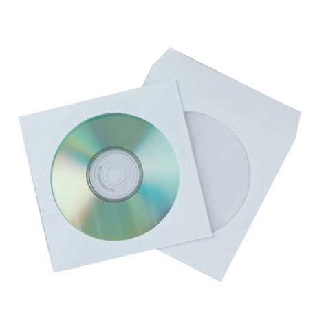 funda cd papel fundas para cd dvd de papel con solapa connect pack 50
