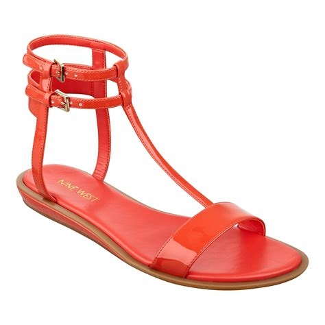 sandals at nine west gladiator sandals in orange orange