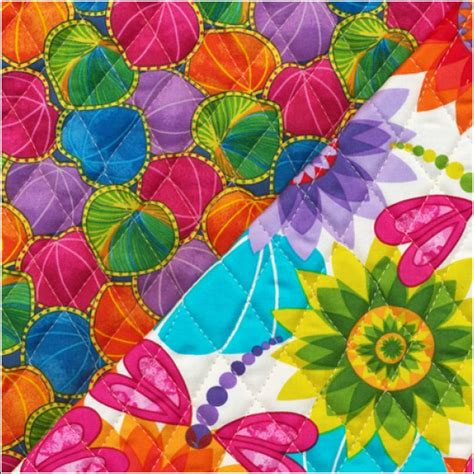 Pre Quilted Fabric Patterns ro gregg calypso pre quilted fabric fabri quilt ebay