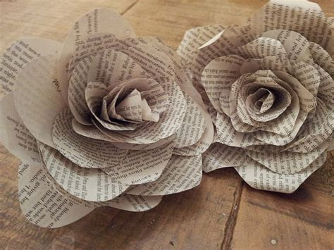 How To Make Paper Flowers Out Of Book Pages - read write 15 awesome ways to turn books into