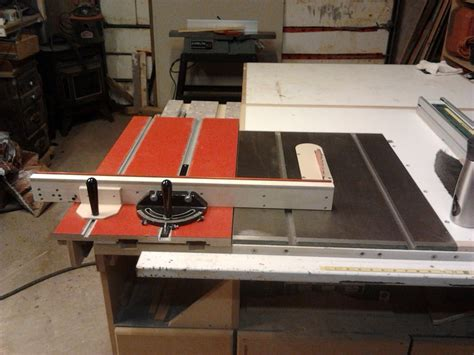 sliding table saw attachment sliding table by shawn s lumberjocks woodworking