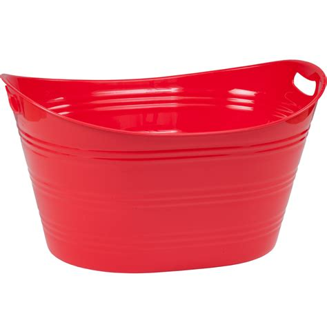 Plastic Tubs plastic beverage tub in storage tubs and buckets