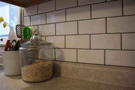 subway tile backsplash black grout sab