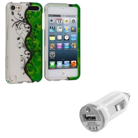 ipod touch 5th charger flower design rubberized cover usb charger for