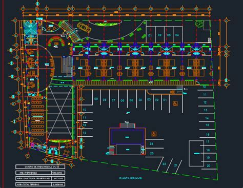 Hotel in the City 2D DWG Design Plan for AutoCAD ? Designs CAD