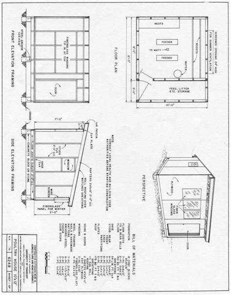 poultry house plans poultry house 10x12 plan chicken coop designs pinterest poultry house poultry