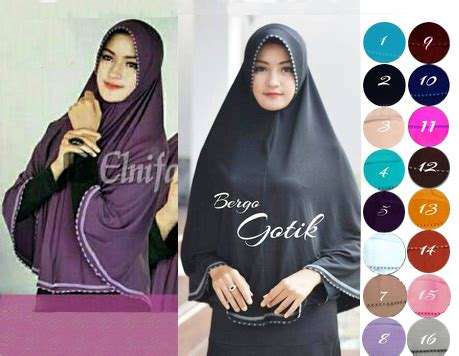 Jilbab Kerudung Instan Bergo Gotik bergo syar i gotik jilbab instan