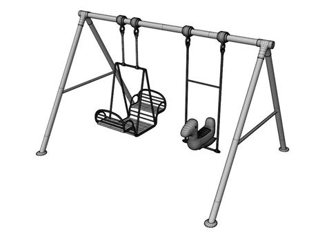 Swing 3d Model by Swing B 3d Model Animated Cgtrader
