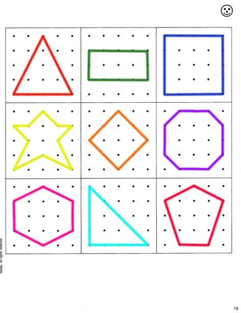activity cards maker template geoboard pattern for busy bags preschool homeschool