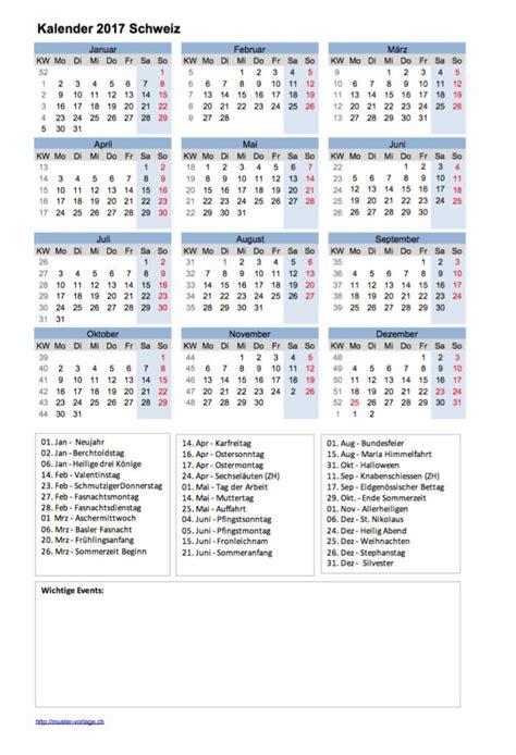 Kalender 2018 Schweiz Kostenlos Drucken Kalender 2017 Muster Und Vorlagen Kostenlos