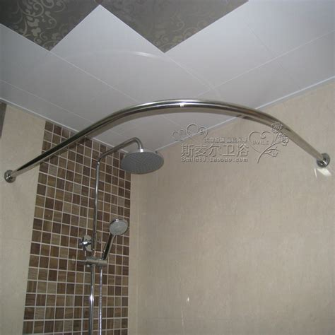 curtain rod for corner shower l type stainless steel curved bathroom shower rod u bath