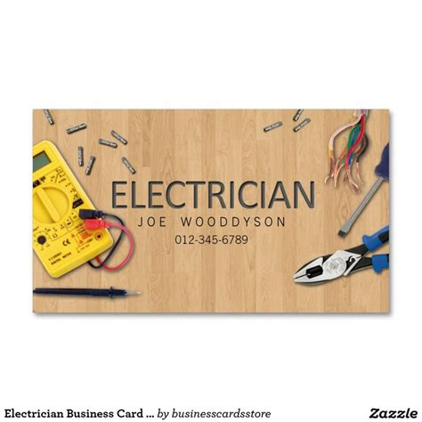 Electrician Business Card Electrical Tools   Tools