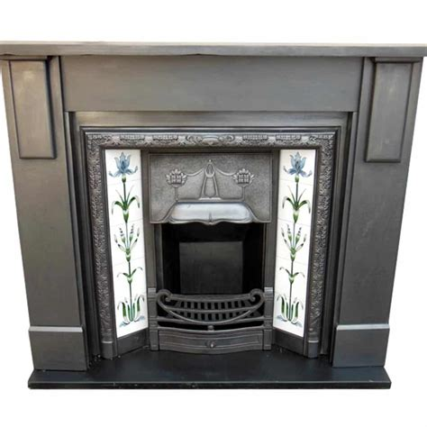 Edwardian Fireplace Surround by Antique Edwardian Slate Surround