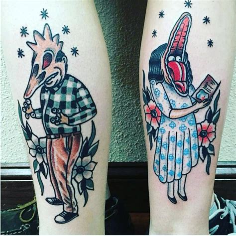 sick couple tattoos anyone like beetle juice tattoos beetle