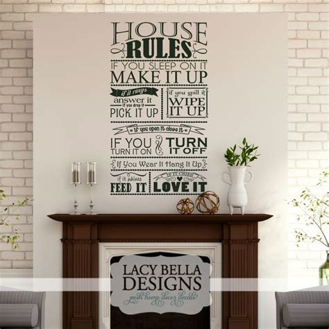 house rules design ideas pin by lacy bella designs on family room designs pinterest
