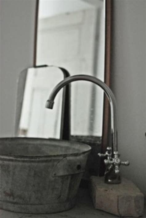 sink made from galvanized tub barn bathroom pinterest