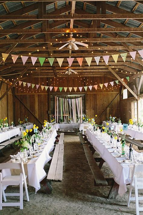 barn decorating ideas 30 barn wedding reception table decoration ideas deer