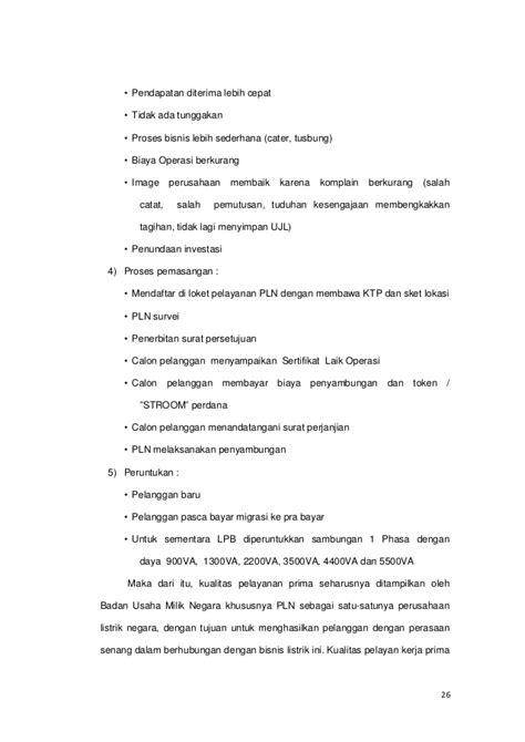 skripsi kualitas layanan inovasi listrik prabayar pt