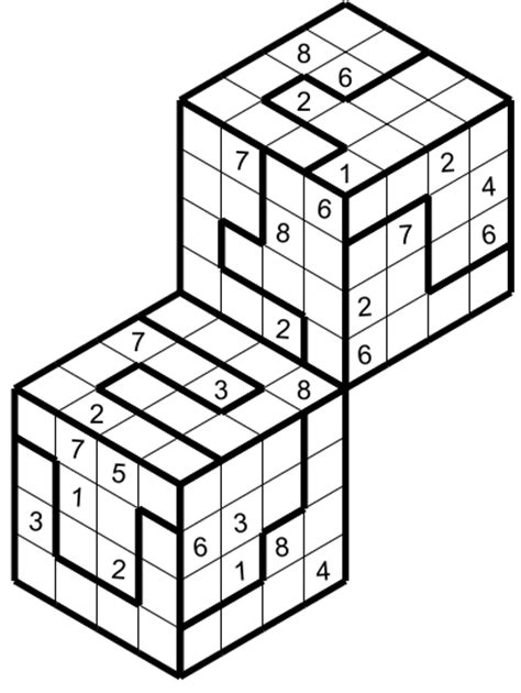 printable hyper sudoku 3d combined