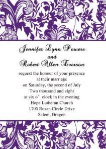 purple wedding invitations by elegant wedding invites