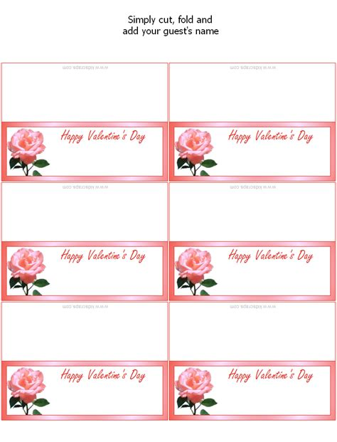 celebrate it templates place cards free printable s day place cards favors at kid scraps