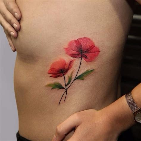 watercolor poppy tattoo best 20 california poppy ideas on