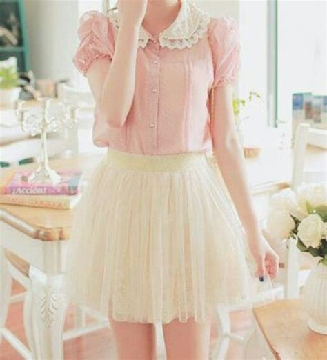 Dress Larry Koreanstyle skirt frilly ruffle pink blouse pink girly