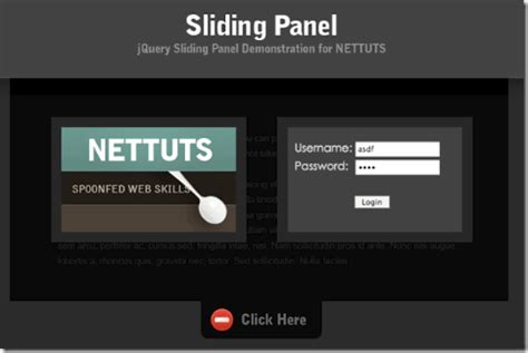 jquery tutorial for slider 10 beautiful sliding panel with jquery tutorial