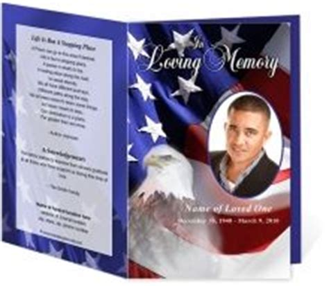 For Later On Pinterest Us Flags Funeral And In Loving Memory Free Patriotic Funeral Program Template