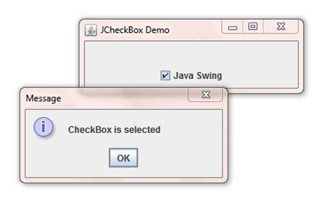 java swing sle code creating checkbox with jcheckbox class